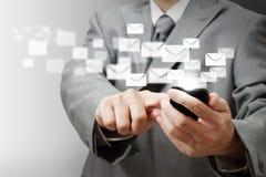 Telefone móvel de tela de toque Imagens de Stock Royalty Free