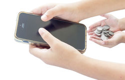 Telefone móvel de tela de toque Foto de Stock