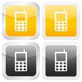 Telefone móvel do ícone quadrado ilustração stock