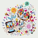 Telefone móvel do divertimento ilustração royalty free