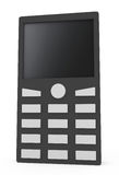 Telefone móvel isolado no branco Foto de Stock Royalty Free