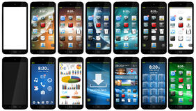 Telefone móvel moderno Fotografia de Stock Royalty Free