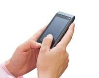 Telefone móvel nas mãos Fotos de Stock