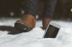 Telefone móvel perdido fotos de stock royalty free