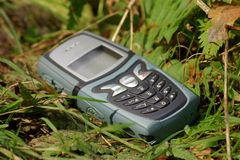 Telefone móvel perdido Imagens de Stock Royalty Free