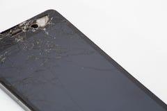 Telefone móvel quebrado Fotografia de Stock