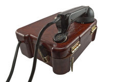Telefone militar velho Fotografia de Stock