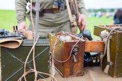 Telefone militar velho Fotos de Stock