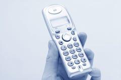 Telefone moderno à disposicão fotos de stock royalty free
