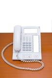 Telefone moderno na tabela Fotos de Stock Royalty Free