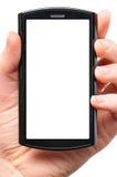 Telefone moderno nas mãos Imagens de Stock Royalty Free