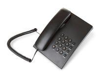 Telefone moderno preto Foto de Stock Royalty Free