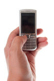 Telefone móvel à disposicão Foto de Stock Royalty Free