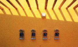 Telefone na parede Fotos de Stock Royalty Free