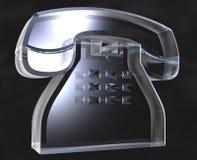 Telefone no vidro (3D) Foto de Stock Royalty Free