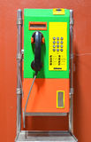 Telefone público colorido Fotografia de Stock Royalty Free