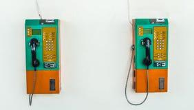 Telefone público em Tailândia Foto de Stock