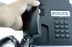 Telefone para um atendimento de emergência Fotos de Stock Royalty Free