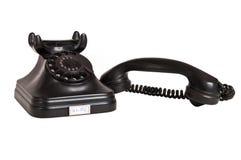 Telefone preto 2 do vintage fotografia de stock royalty free