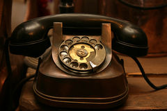 Telefone preto do Antiquarian Fotos de Stock