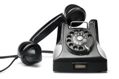 Telefone preto do vintage Imagem de Stock Royalty Free