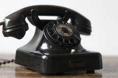 Telefone preto velho Fotografia de Stock