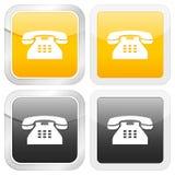 Telefone quadrado do ícone Fotos de Stock