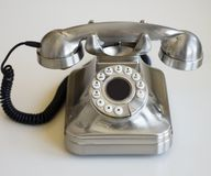 Telefone retro à moda Fotografia de Stock Royalty Free