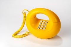 Telefone retro circular velho, um seletor giratório da parte na parte inferior Imagens de Stock