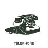 Telefone retro do vetor ilustração royalty free