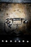 Telefone retro preto velho Imagem de Stock