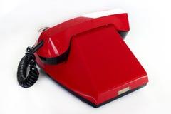 Telefone retro vermelho Imagem de Stock Royalty Free