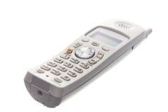 Telefone sem corda branco   imagem de stock