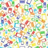 Telefone sem emenda do teste padrão Foto de Stock