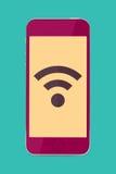 Telefone sem fio à moda ilustração royalty free