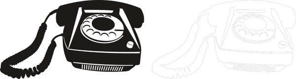 Telefone velho Fotos de Stock