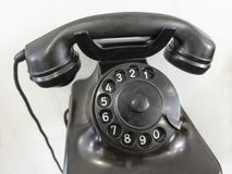 Telefone velho com o teclado de giro análogo imagens de stock royalty free