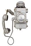 Telefone velho da prova do vândalo imagens de stock royalty free