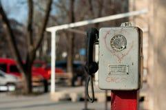 Telefone velho da rua Imagem de Stock Royalty Free