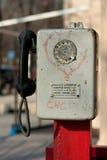 Telefone velho da rua Fotografia de Stock