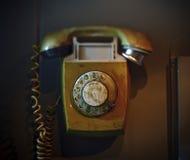 Telefone velho do seletor giratório Fotografia de Stock