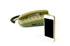 Telefone velho e novo Foto de Stock Royalty Free