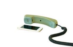 Telefone velho e novo Foto de Stock