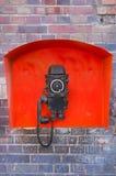 Telefone velho no estaleiro de Gdansk Fotografia de Stock Royalty Free
