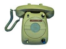 Telefone velho no fundo branco Imagem de Stock