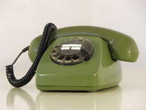 Telefone verde fotografia de stock