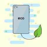 Telefone verde do eco ilustração royalty free