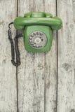 Telefone verde velho Fotografia de Stock
