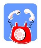 Telefone vermelho ilustração royalty free