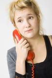 Telefone vermelho Imagens de Stock